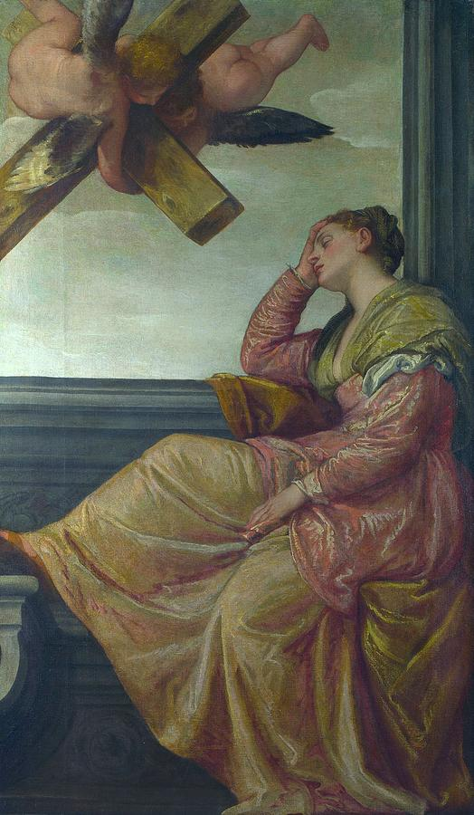 1570 Painting - The Dream Of Saint Helena by Paolo Veronese