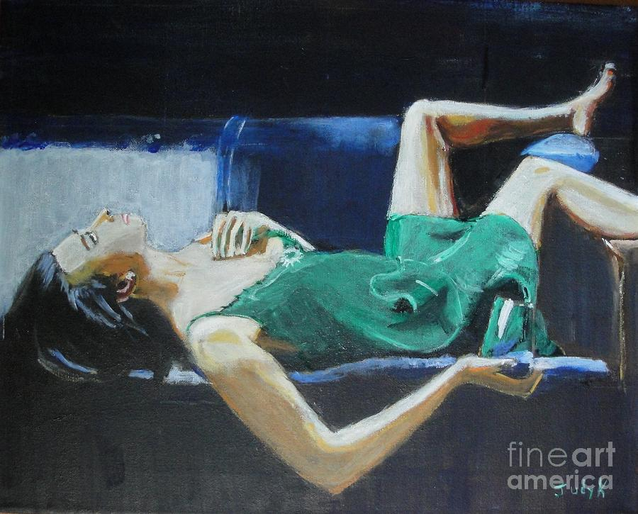 Woman Painting - The Dreamer by Judy Kay
