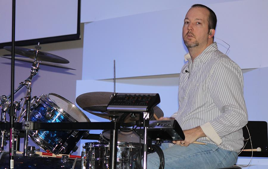 Drum Photograph - The Drummer by Carolyn Ricks