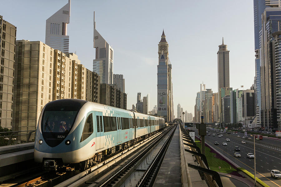 The Dubai Metro Photograph by Muhammad Owais Khan