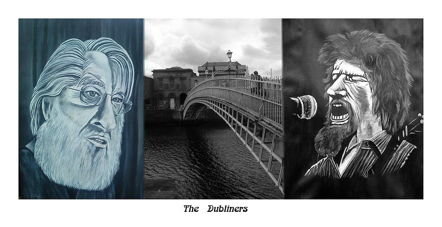 The Dubliners Mixed Media - The Dubliners by Colin O neill