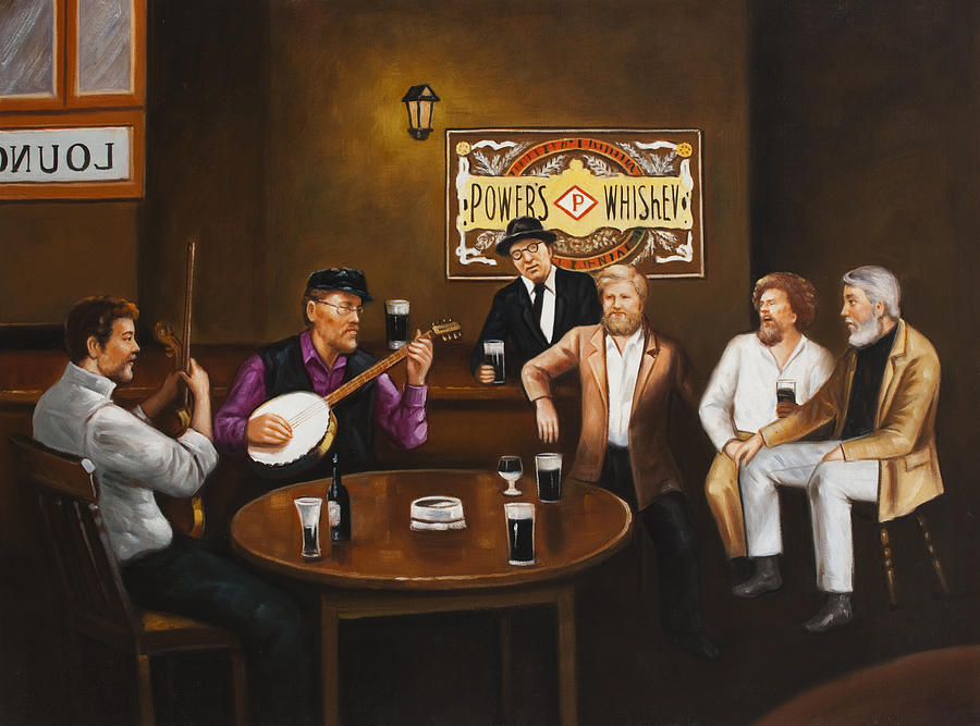 The Dubliners Painting - The Dubliners Luke Sings. by Michael Geoghegan