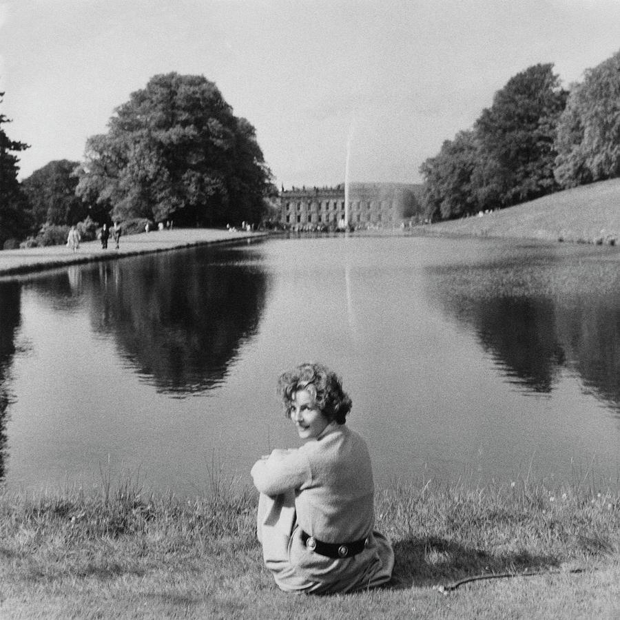The Duchess Of Devonshire At Devonshire Palace Photograph by Cecil Beaton