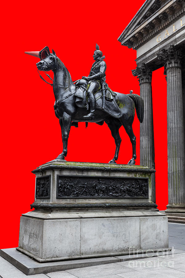 Duke Of Wellington Photograph - The Duke Of Wellington Red by John Farnan