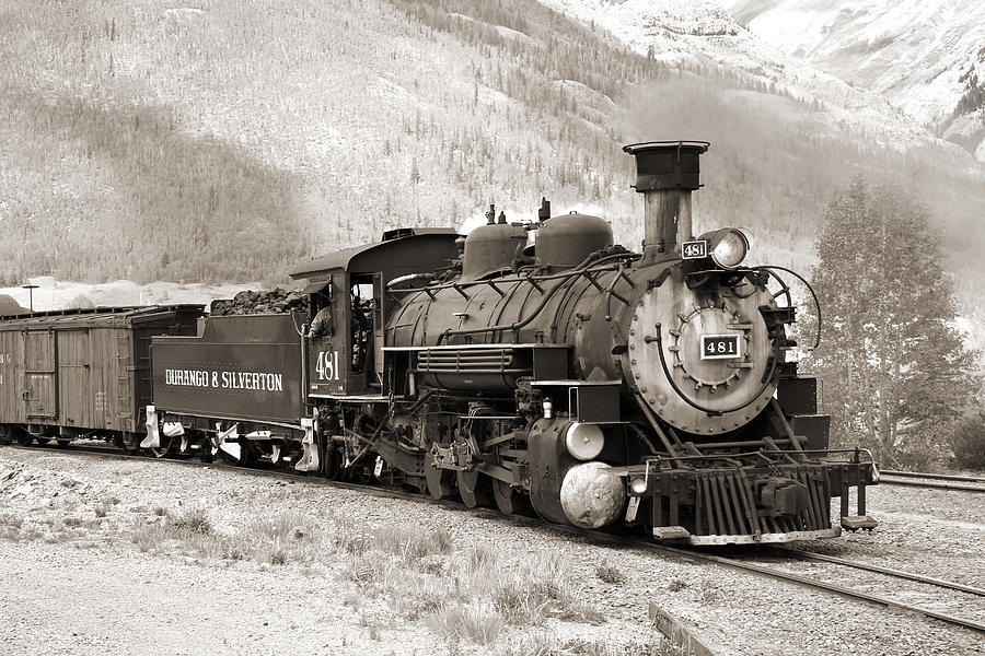 Transportation Photograph - The Durango And Silverton by Mike McGlothlen