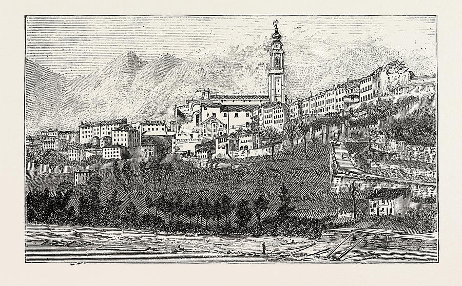 The Earthquake In Italy Belluno The Effect Drawing By Italian School