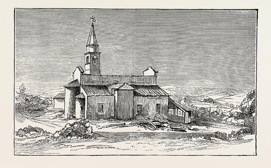 The Earthquake In Italy The Church Of Conegliano Drawing By Italian