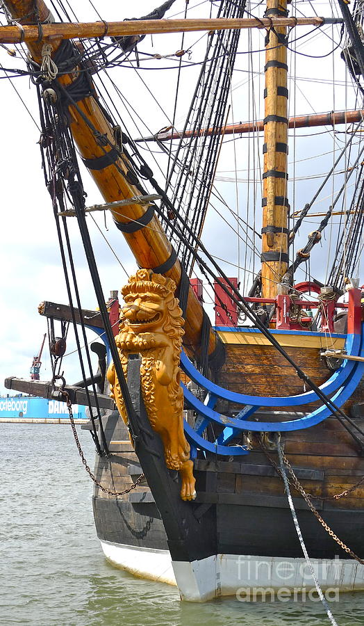 The East India Replica ship Photograph by Leif Sodergren