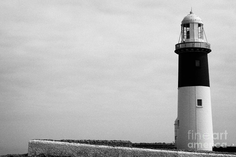 Ireland Photograph - The East Light Lighthouse Altacarry Altacorry Head Rathlin Island Against Grey Sky County Antrim Nor by Joe Fox