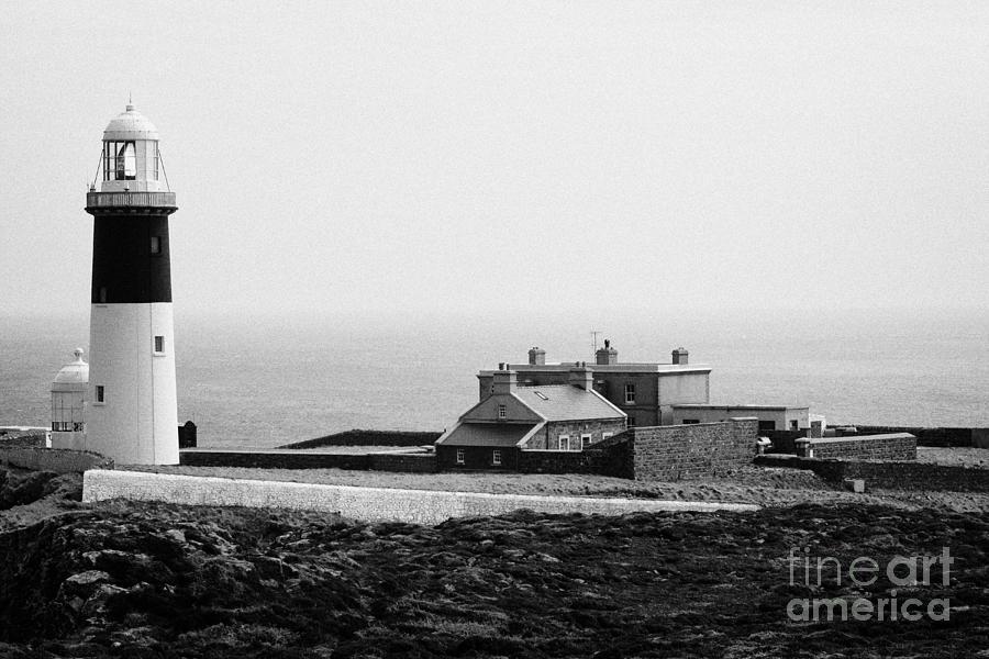Ireland Photograph - The East Light Lighthouse And Buildings Altacarry Altacorry Head Rathlin Island Northern Ireland by Joe Fox