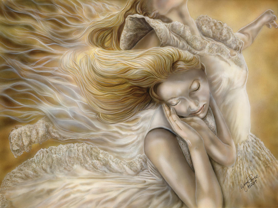 Airbrush Artist Painting - The Ecstasy Of Angels by Wayne Pruse