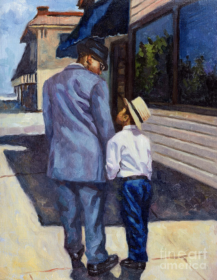 Father Painting - The Education Of A King by Colin Bootman