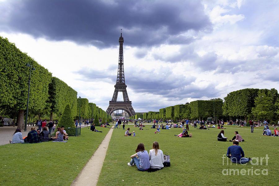 Eiffel Photograph - The Eiffel Tower And The Champ De Mars. Paris. France by Bernard Jaubert