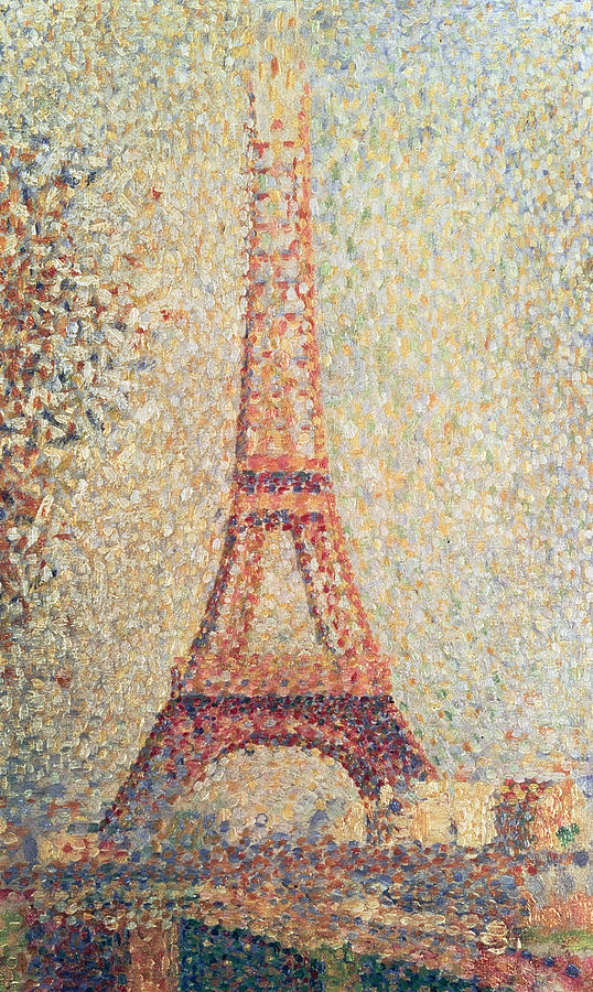 Impressionism Painting - The Eiffel Tower by Georges Pierre Seurat