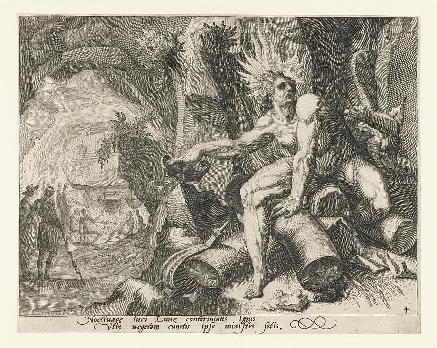 Fire Drawing - The Element Of Fire, Attributed To Jacob De Gheyn II by Attributed To Jacob De Gheyn (ii)