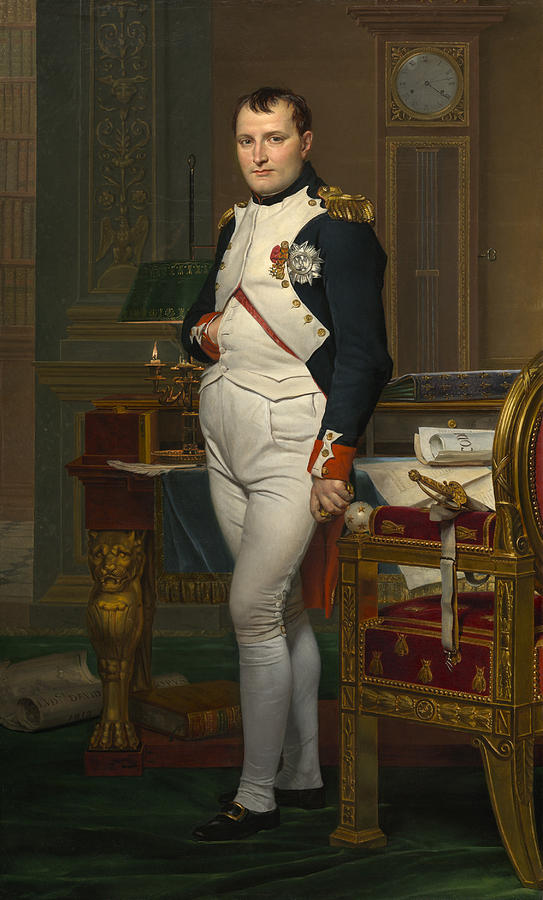Artistic Painting - The Emperor Napoleon In His Study by Mountain Dreams