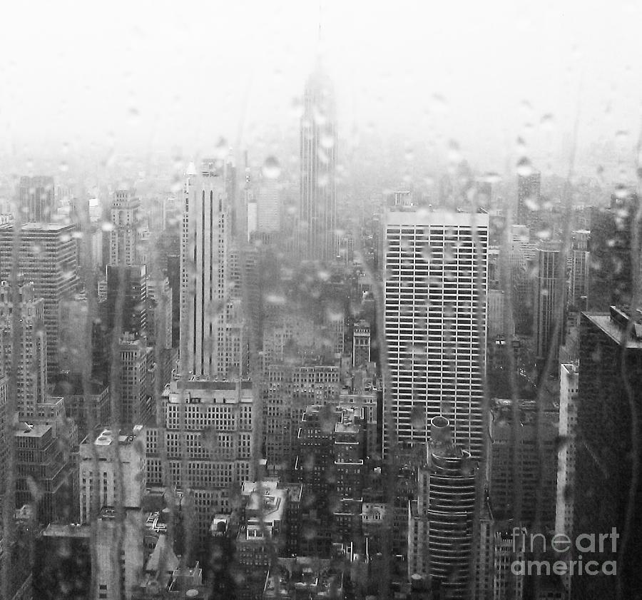 Empire State Building Photograph - The Empire In The Rain by Alice Gardoni