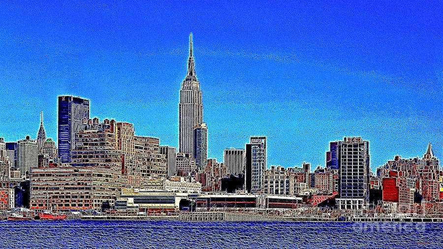 Building Photograph - The Empire State Building And The New York Skyline 20130430 by Wingsdomain Art and Photography