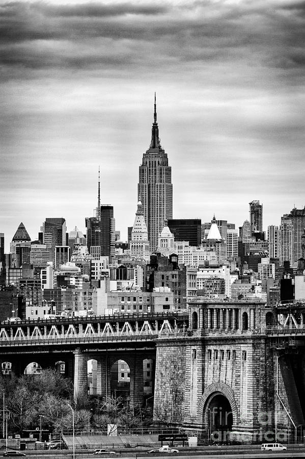 New York Canvas Photograph - The Empire State Building by John Farnan
