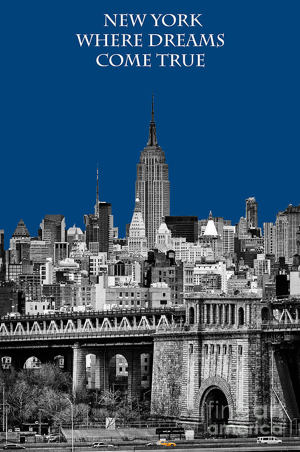 Brilliant Color Photograph - The Empire State Building pantone blue by John Farnan