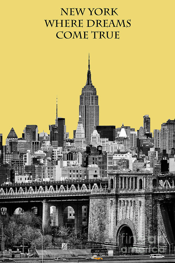 Brilliant Color Photograph - The Empire State Building pantone lemon by John Farnan