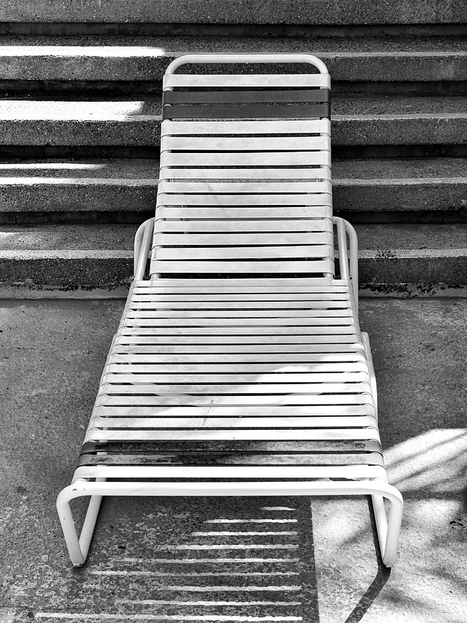 Chaise Photograph - The Empty Chaise Palm Springs by William Dey