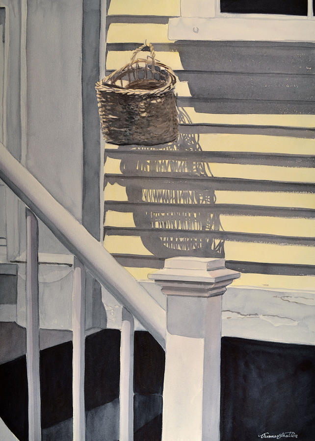 Country Life Painting - The Empty Letter Basket by Thomas Stratton