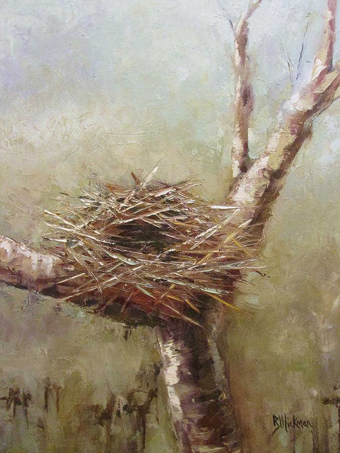 Bird Painting - The Empty Nest by Brandi  Hickman