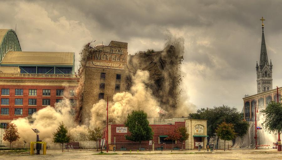Demolition Photograph - The End Of An Era by David Morefield