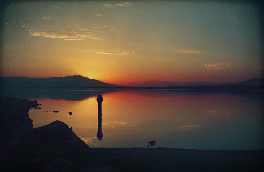 Salton Sea Photograph - The End Of Another Day Without You by Laurie Search
