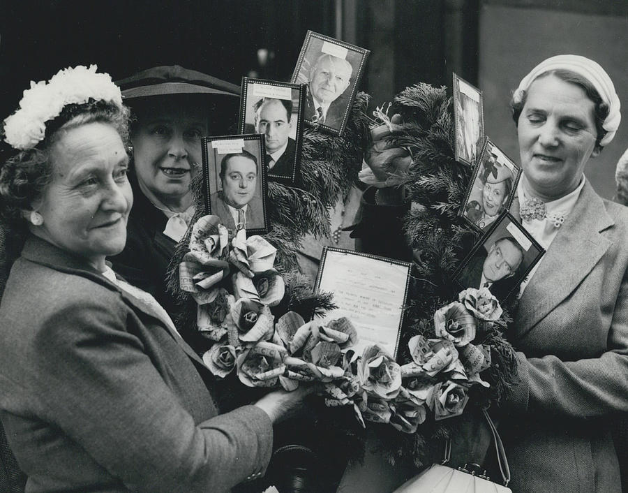 Retro Photograph - The End Of Rationing In Britain. Housewives Present The by Retro Images Archive