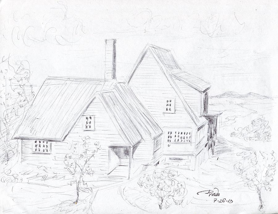 The English Cottage Drawing By Horacio Prada