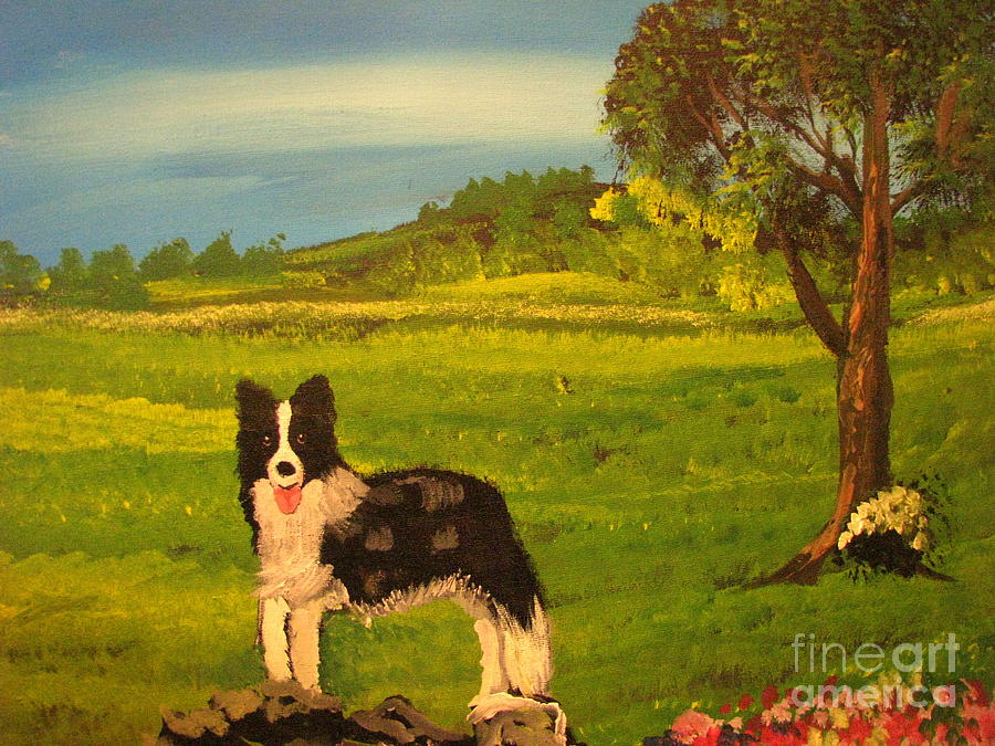 Dog Painting - The English Countryside by John Morris