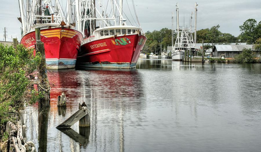 Shrimp Boat Photograph - The Enterprise by JC Findley