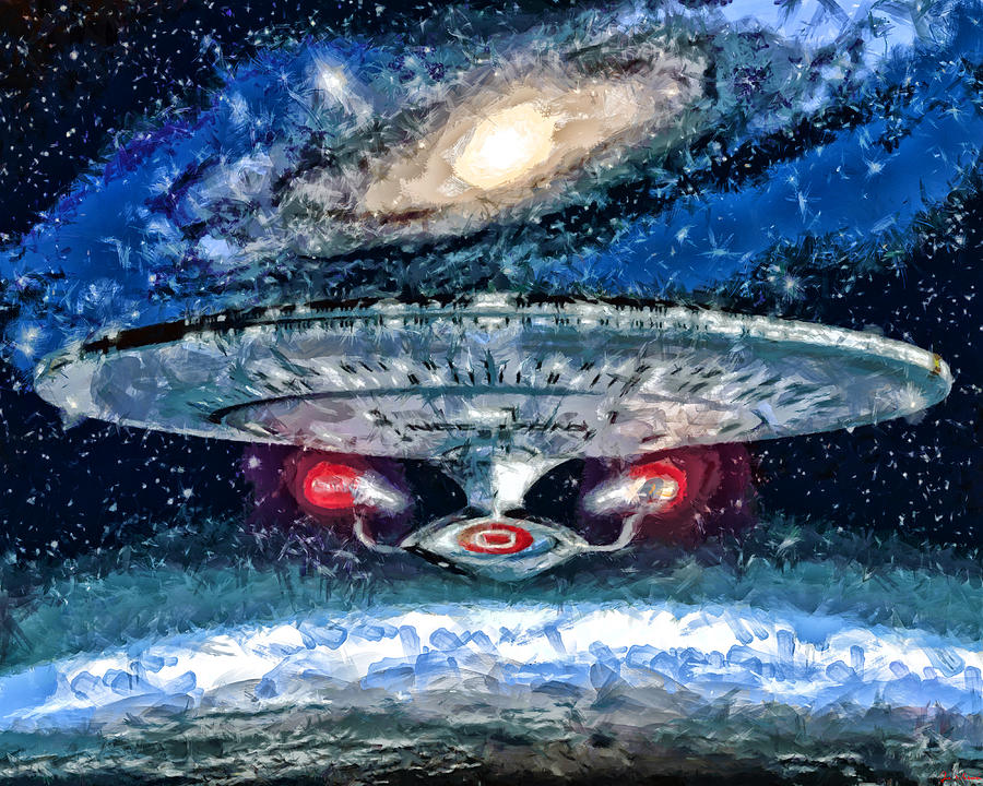 Midnight Streets Painting - The Enterprise by Joe Misrasi