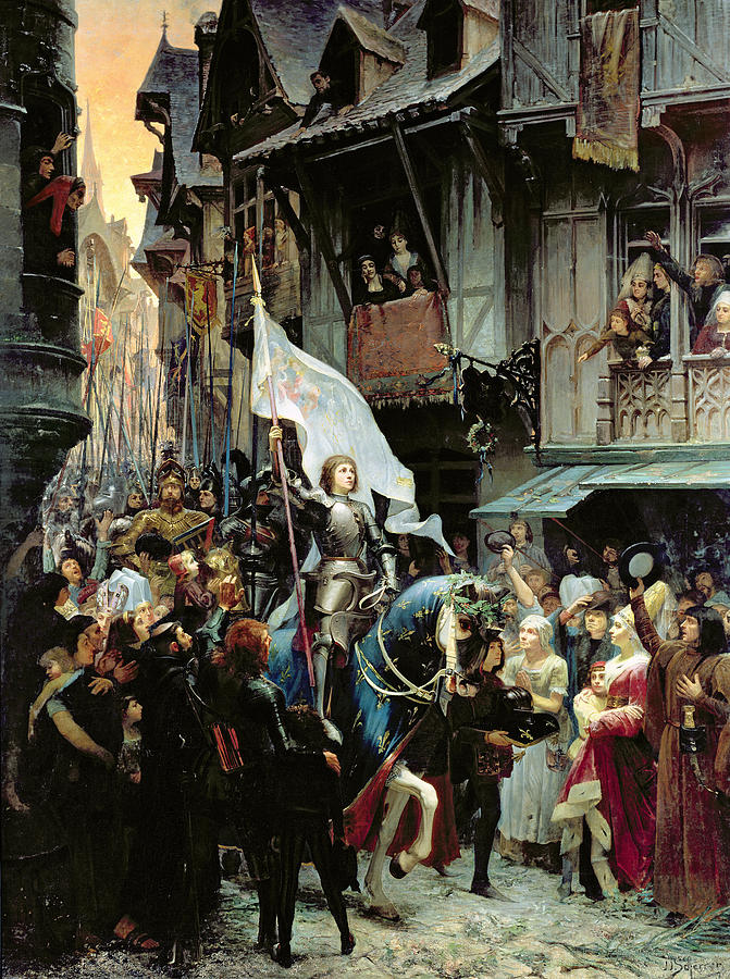 The Entrance Of Joan Of Arc Into Orleans Painting by Jean ...