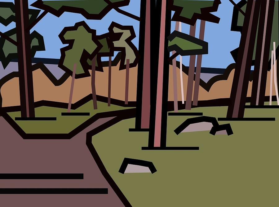 Landscape Digital Art - The Entrance To The Wood. by Kenneth North