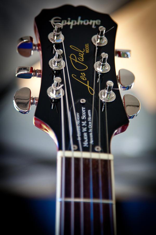 Epiphone Guitars Photograph - The Epiphone Les Paul Guitar by David Patterson