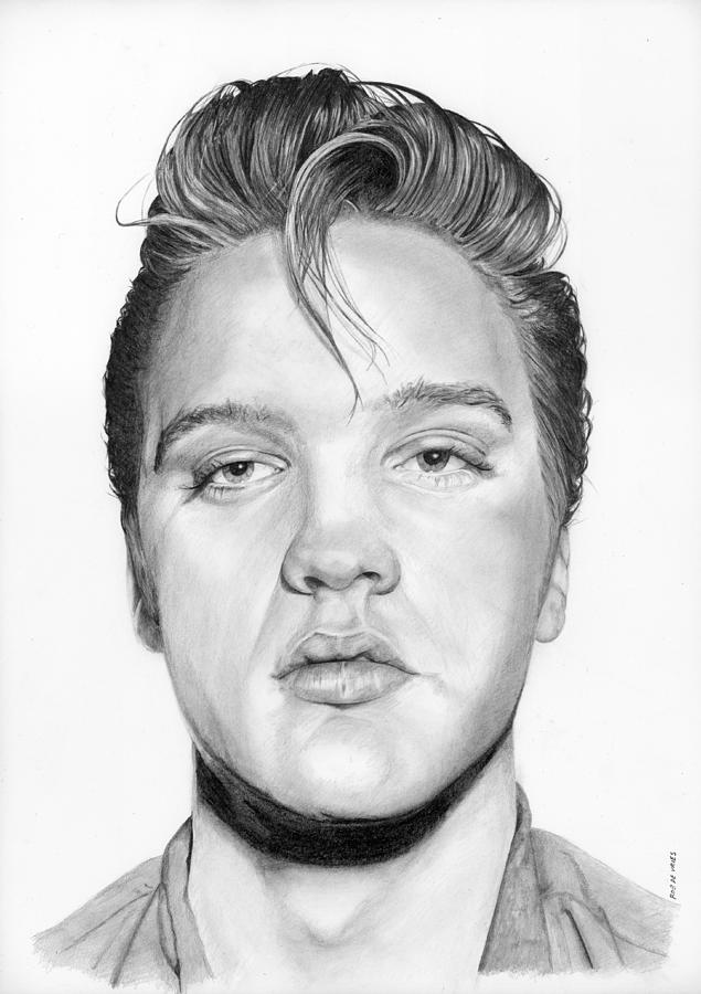 Elvis Drawing - The Epitome of Cool by Rob De Vries