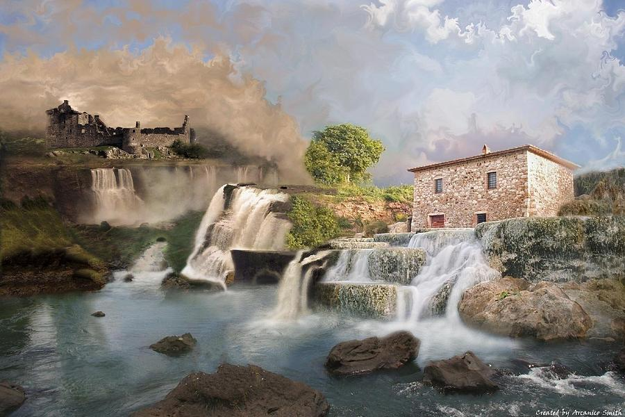Water Digital Art - The Era Of The Age Of The Time by Arcanico Luca Smith Acquaviva