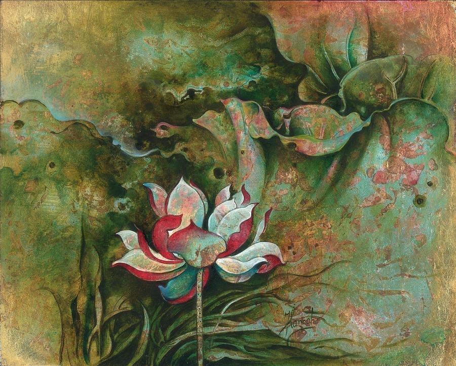 Lotus Painting - The Eremite by Anna Ewa Miarczynska