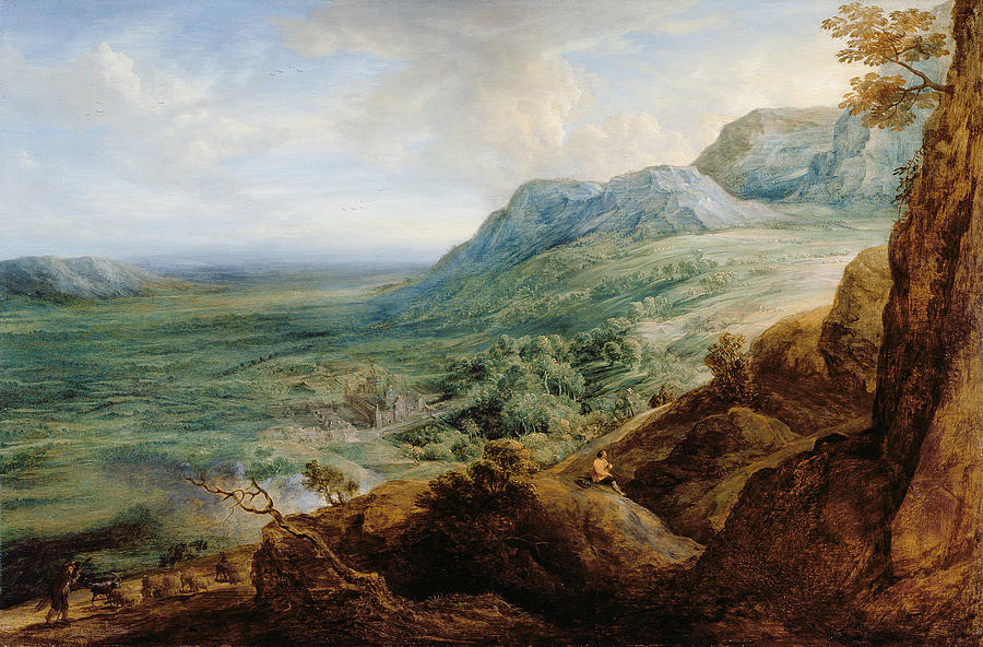 Landscape Painting - The Escorial, From A Foothill by Lucas van Uden