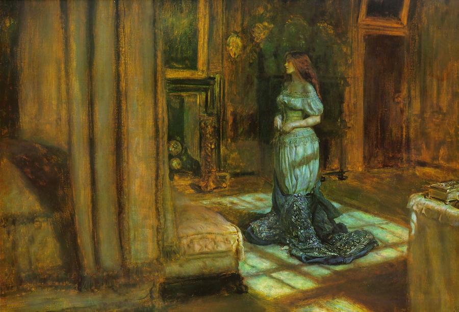 John Everett Millais Digital Art - The Eve Of St Agnes by John Everett Millais