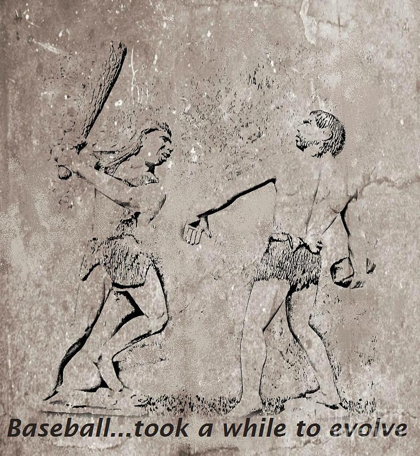 The Evolution Of Baseball Digital Art - The Evolution Of Baseball by John Malone