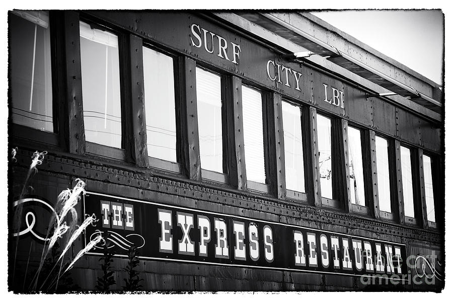 Diner Photograph - The Express Restaurant Black And White by John Rizzuto