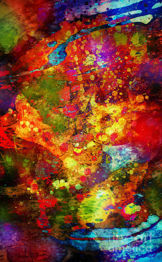 Crazy Digital Art - The Eye Of Craziness by Donika Nikova