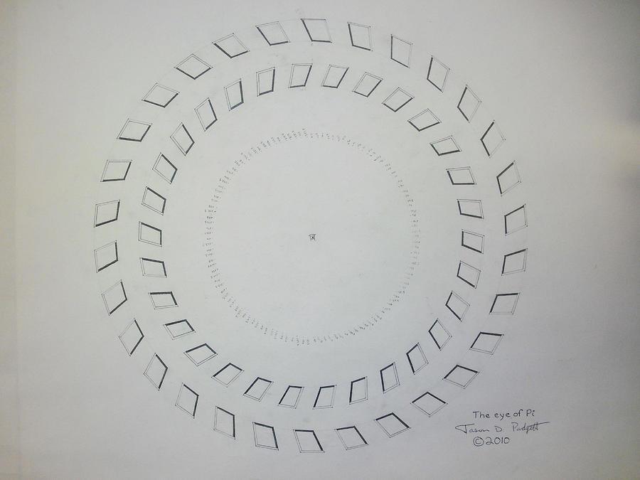 Pi Drawing - The eye of Pi by Jason Padgett