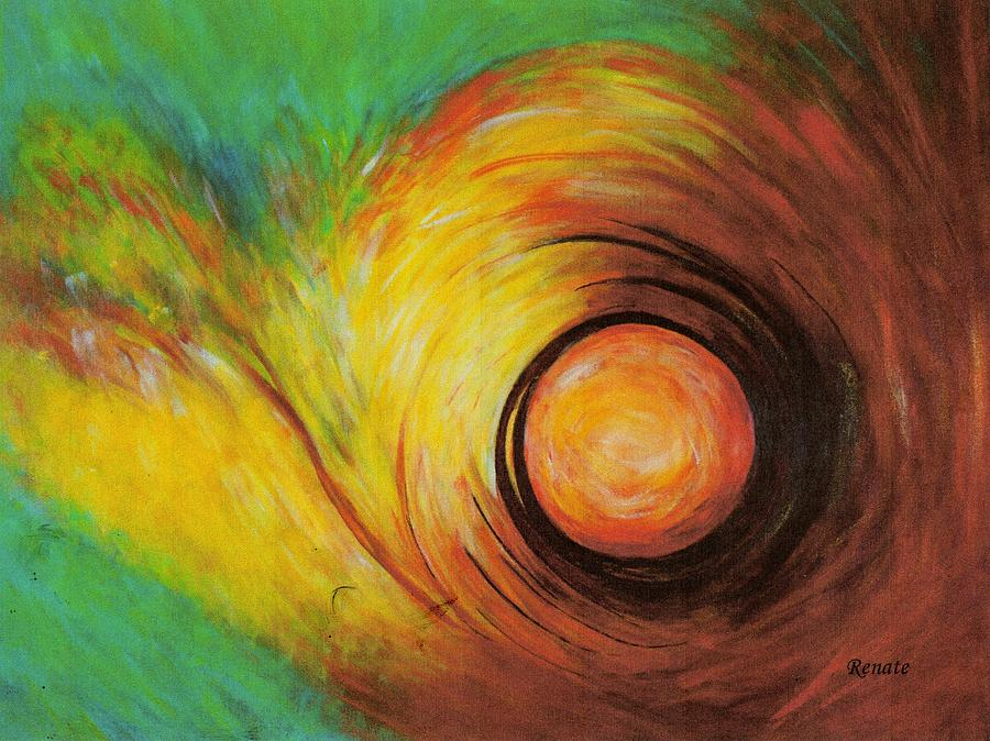 The Eye Of The Storm..... Painting by Renate Dartois