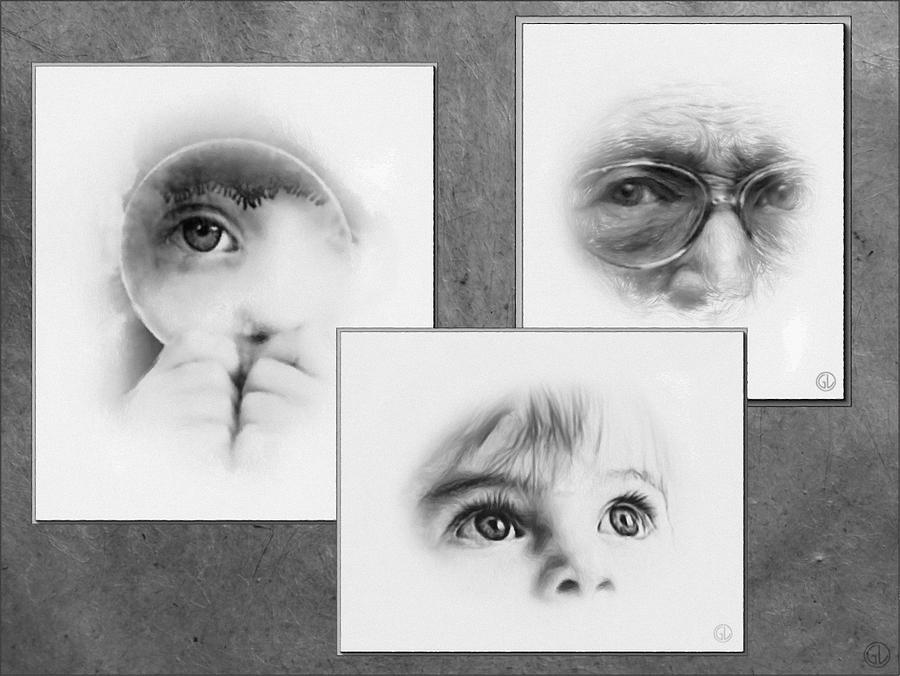 Collage Digital Art - The Eyes Have It by Gun Legler