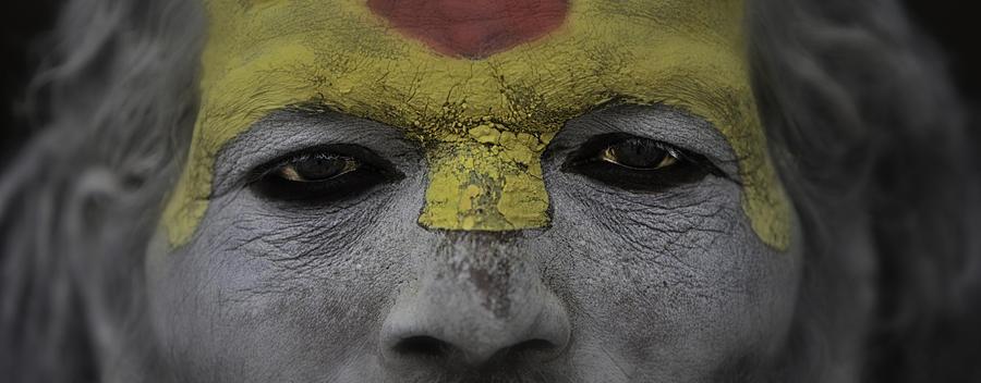 Nepal Photograph - The Eyes Of A Holyman by David Longstreath